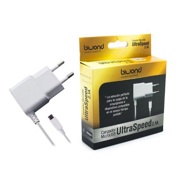 e766527f9a0 Cargador micro USB Biwond 2.1 A BLANCO